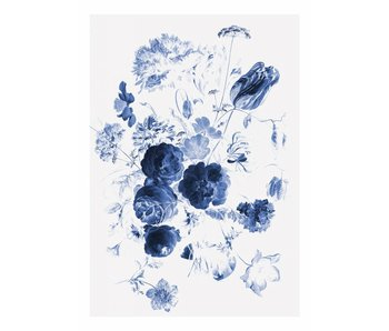 KEK Amsterdam Royal Blue Flowers Jeg blomster tapet