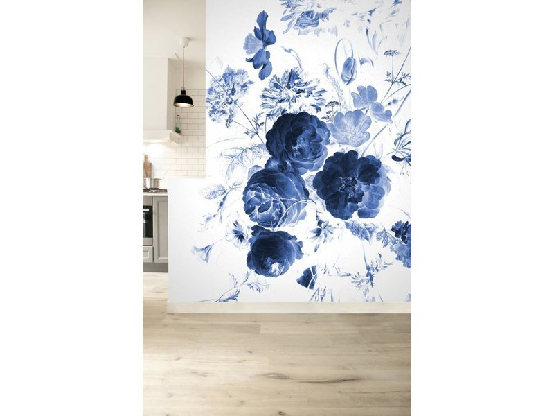 KEK Amsterdam Königliche blaue Blumen I Blumentapete