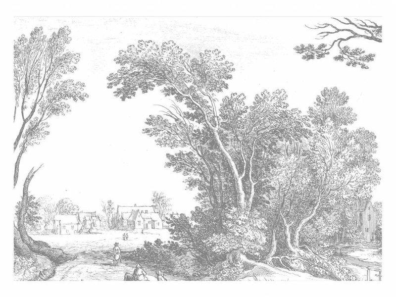 KEK Amsterdam Graverede landskaber tapet