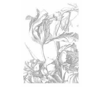KEK Amsterdam Graverede blomster tapet