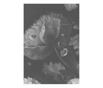 KEK Amsterdam Svart og hvitt blomster tapet