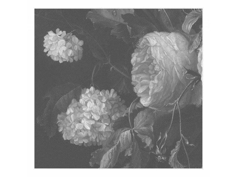KEK Amsterdam Sort og hvid blomster tapet