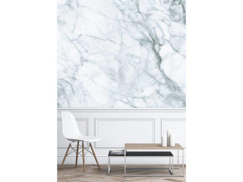 KEK Amsterdam Marmor tapet hvidgrå