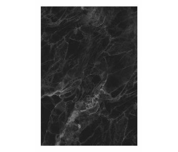 KEK Amsterdam Papier peint en marbre noir gris