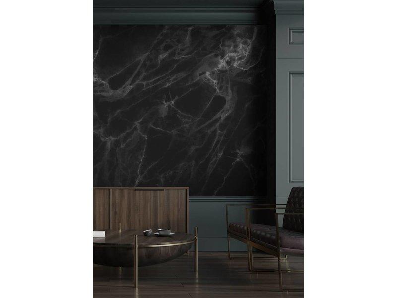 KEK Amsterdam Marmer behang zwart grijs