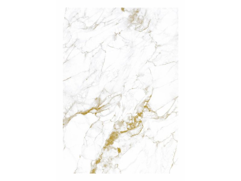 KEK Amsterdam Marmer behang wit goud