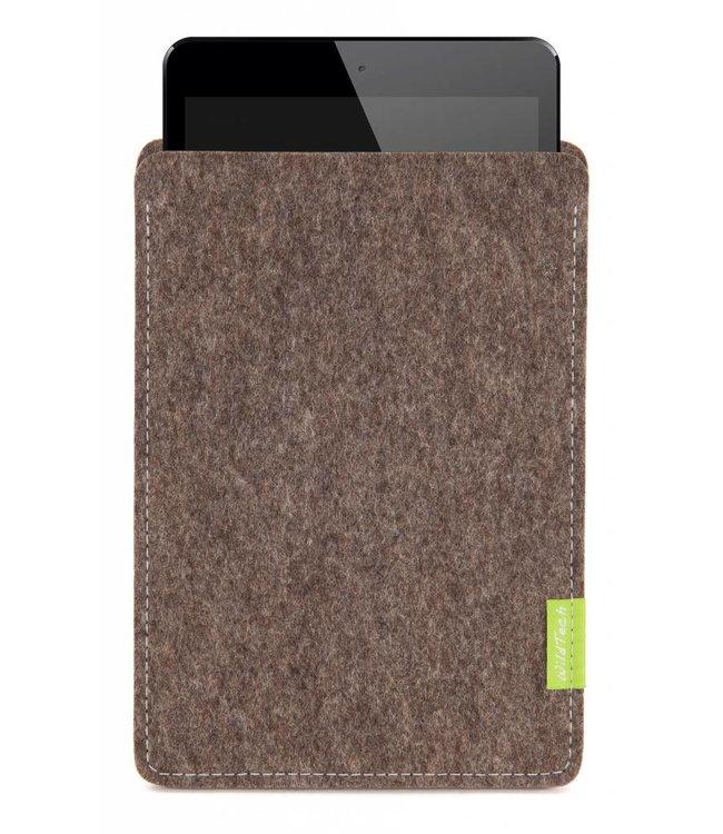 Apple iPad Sleeve Natur-Meliert