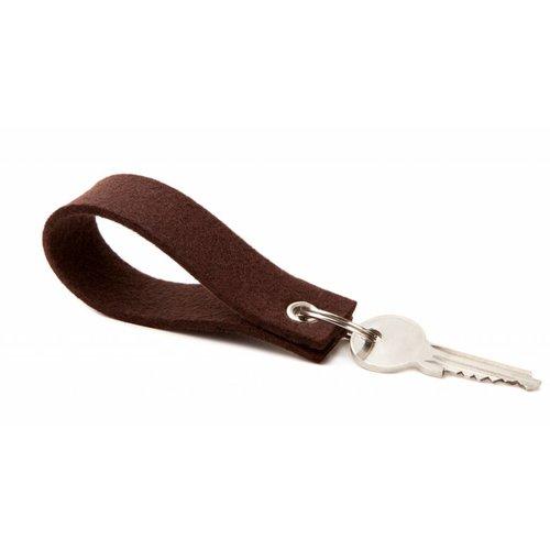 Keychain Dark-Brown square