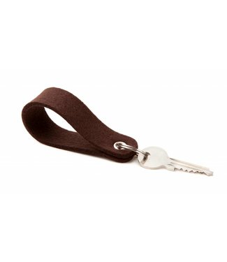 Keychain Dark-Brown round