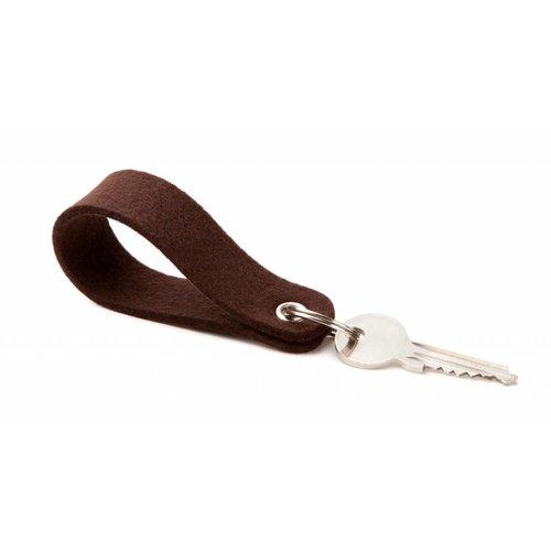 Keychain Dark-Brown round