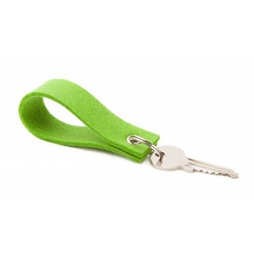 Schlüsselanhänger Maigrün eckig