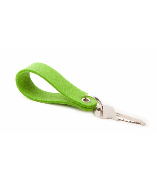 Keychain Bright-Green round