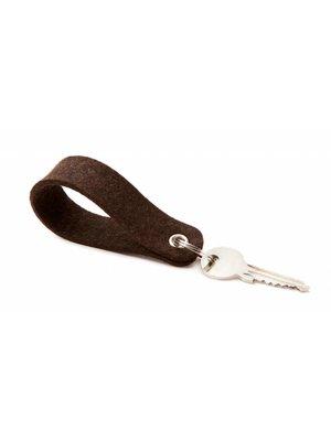 Keychain Truffle-Brown round