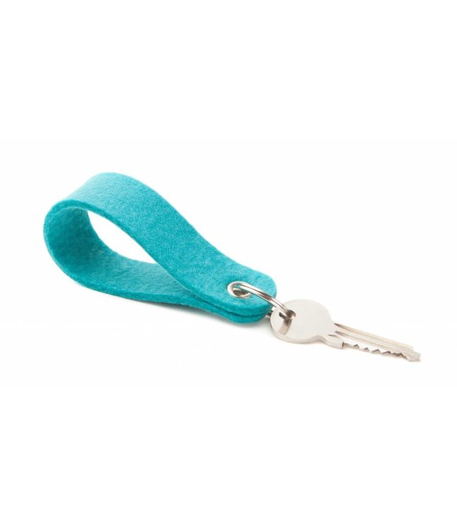 Keychain Turquoise round