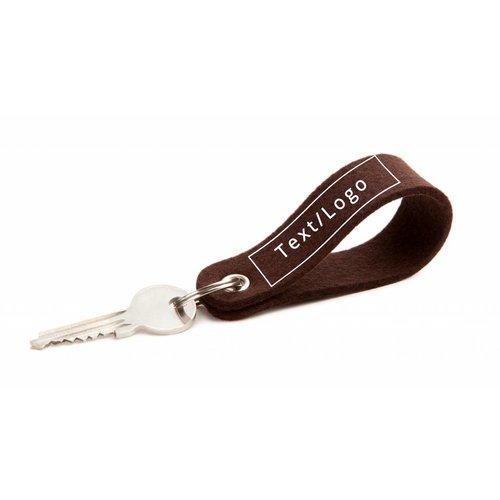 Individual Keychain Dark-Brown Round
