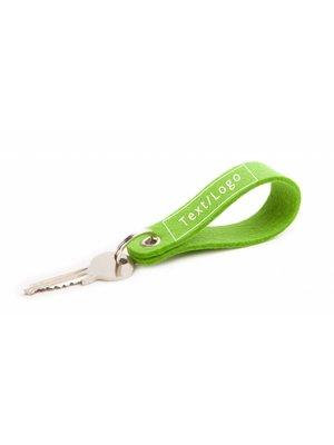 Individual Keychain Bright-Green Round