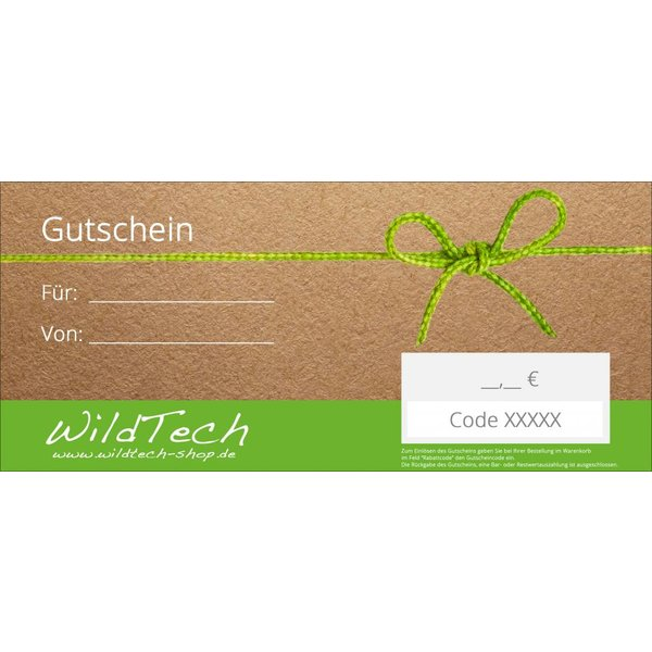 Gift voucher to print 20€ to 100€