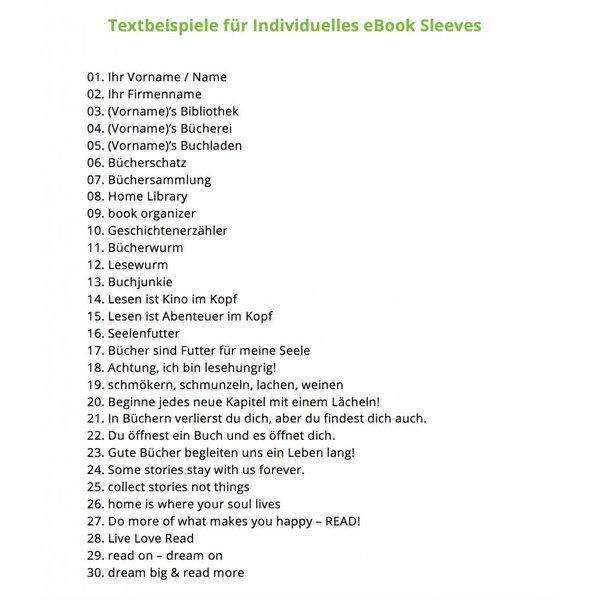 Individual eBook Sleeve Lime-Green