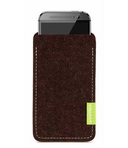 HTC One/Desire Sleeve Trüffelbraun