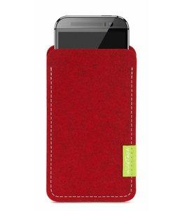 HTC One/Desire Sleeve Kirschrot