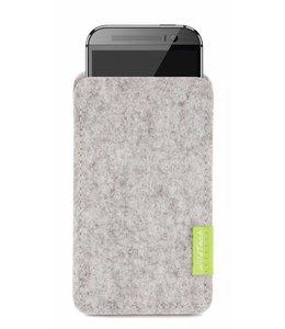 HTC One/Desire Sleeve Hellgrau