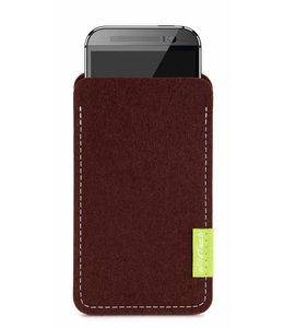 HTC One/Desire Sleeve Dunkelbraun