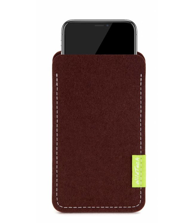 Apple iPhone Sleeve Dunkelbraun