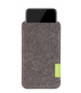 Apple iPhone Sleeve Grau