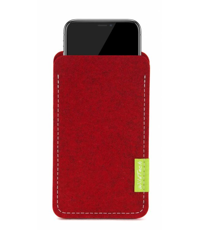 Apple iPhone Sleeve Kirschrot