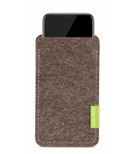Apple iPhone Sleeve Natur-Meliert