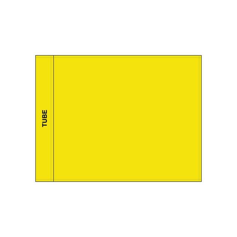 Golf flag, plain, yellow