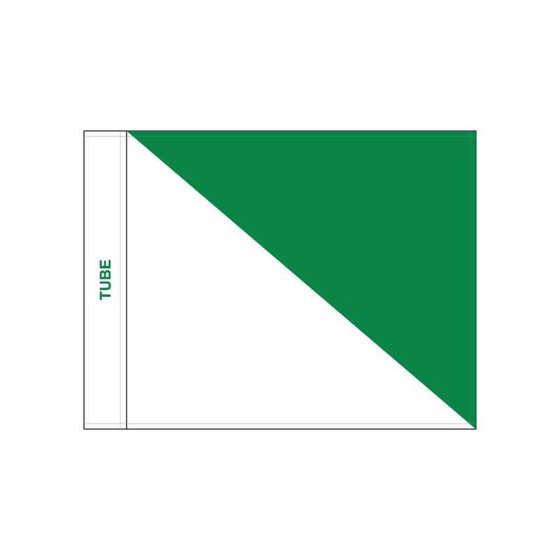 Golfvlag, semaphore, wit - groen