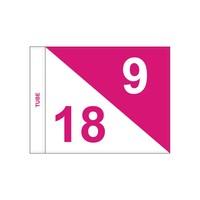 Golf flag, semaphore, numbered