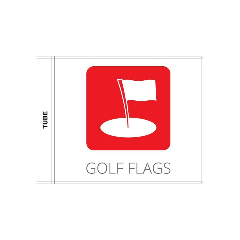 Golf flag, printed with logo