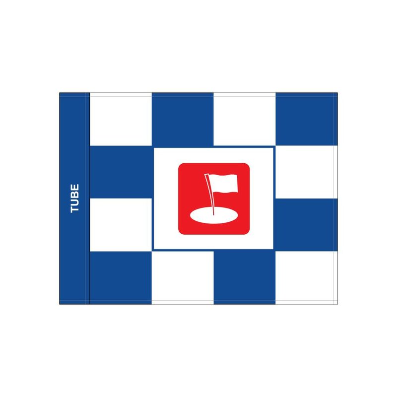 Golf flag, checkered with logo