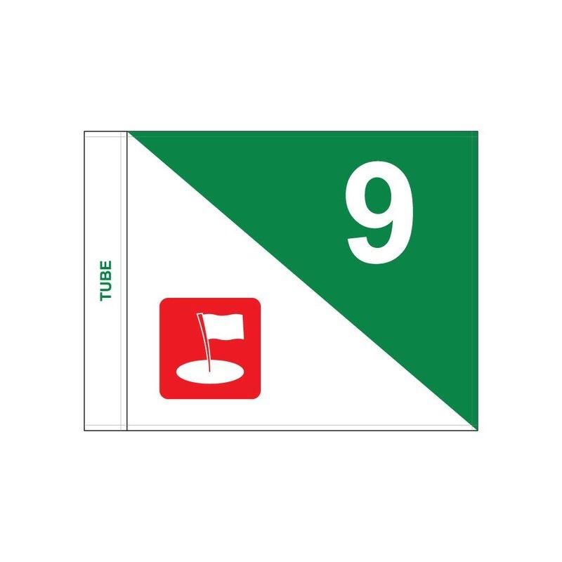 Golfvlag, semaphore met logo