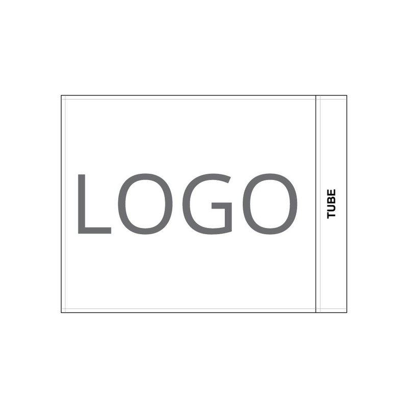 Golfvlag, bedrukt met logo