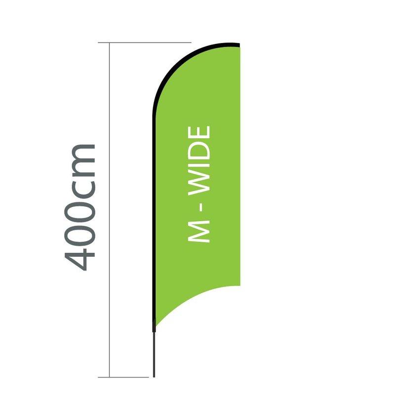 Beach flag Concave M-wide