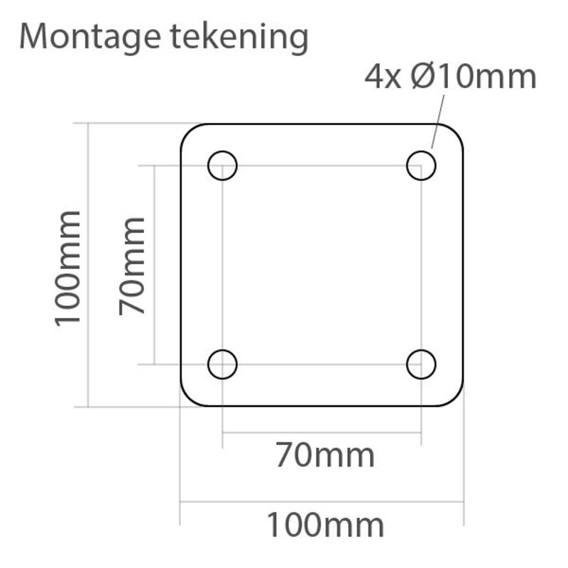 Wall mounting, 180 degrees