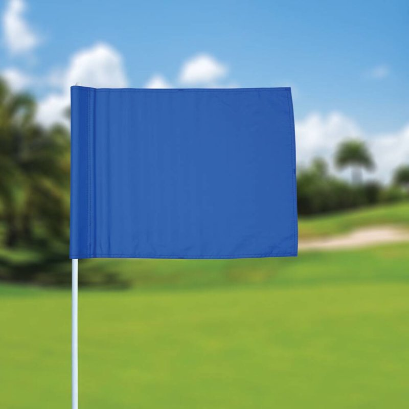 Golf flag, plain, blue