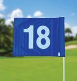 Golf flag, numbered, blue