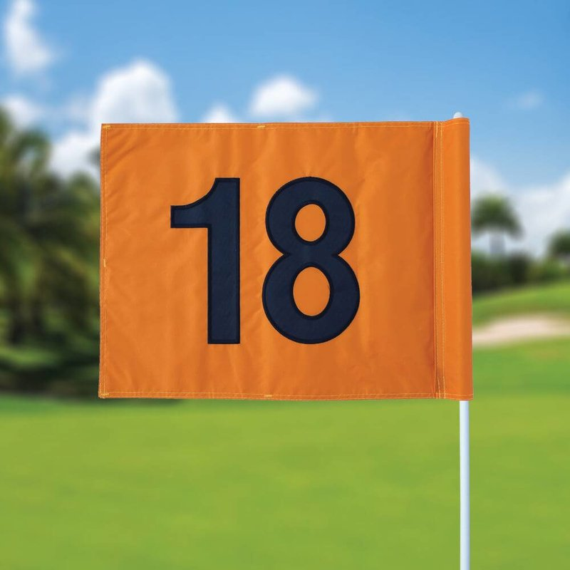 Golf flag, numbered, orange