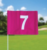Golf flag, numbered, pink