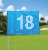 Golfvlag, genummerd, lichtblauw