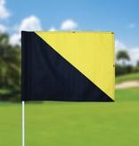 Golfvlag, semaphore, zwart - geel