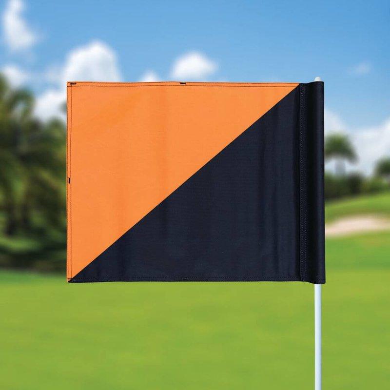 Golf flag, semaphore, black - orange