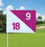 Golf flag, semaphore, numbered
