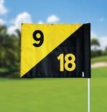 Golfvlag, semaphore, genummerd, zwart - geel