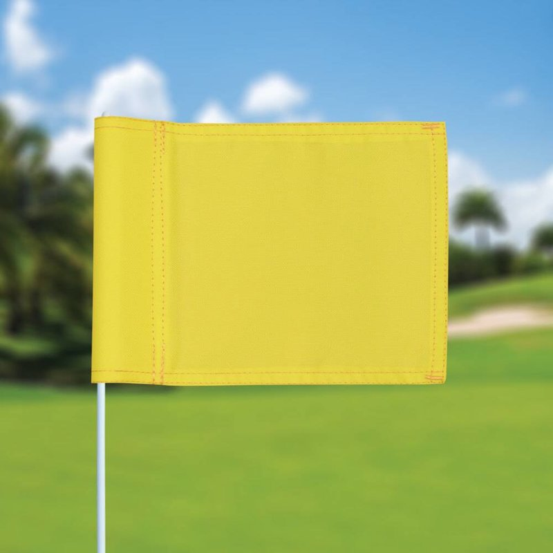 Putting green flag, plain, yellow