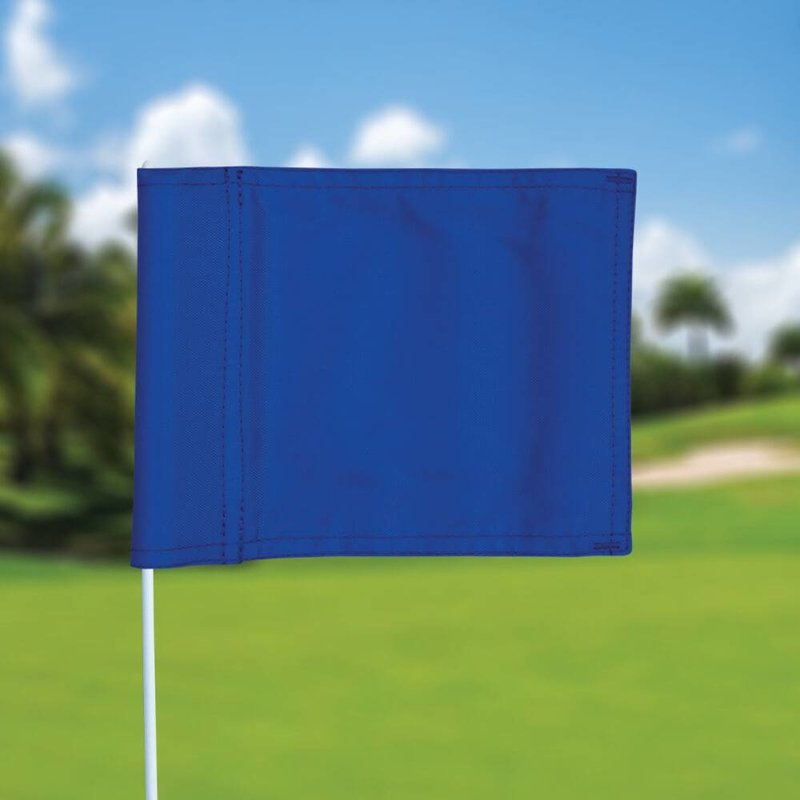 Putting green vlag, effen, blauw
